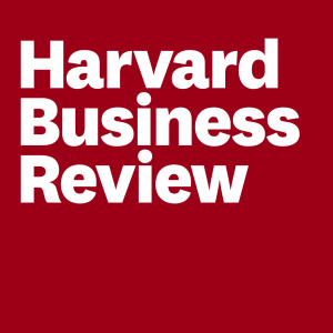 Harvard Business Review White text on a red background