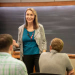 Heather Hollick leads a presentation on networking at the Pratt School of Engineering at Duke