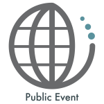 Image of a globe as an icon for a public event.