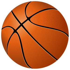 Stylized basketball