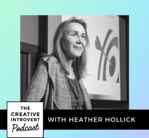 Picture of Heather in front of a prestentation screen