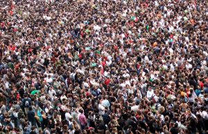 Photo of a large crowd of people