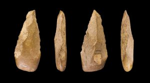 Multiple views of a biface (hand axe)